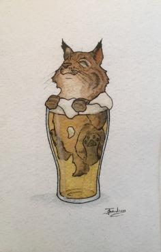 Cat In Beer